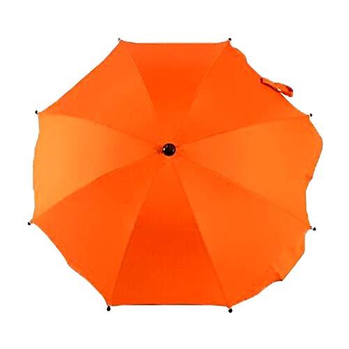 Produits pour bébés Parapluie réglable Laciness pour voiturettes de golf, poussettes/poussettes et poussettes pour bébés Produits pour bébés (Couleur : Orange Light)