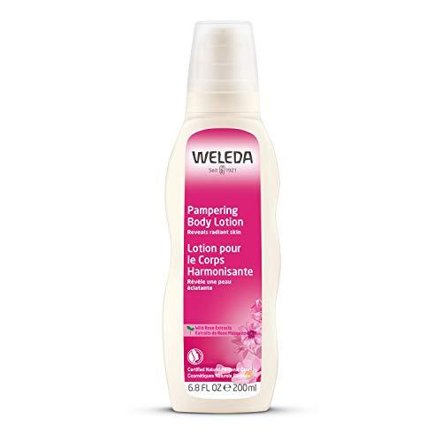 Weleda Wildrose verwenende verzorgingslotion, natuurlijke cosmetica, bodylotion voor intensieve verzorging, versterking en regeneratie van gevoelige huid, lichaamslotion voor droge huid (1 x 200 ml)