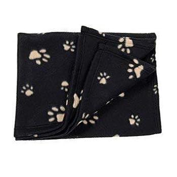 Ensemble de couverture polaire douce et chaude avec empreintes de pattes pour animal domestique, chien, chat, chiot - 70 cm x 70 cm