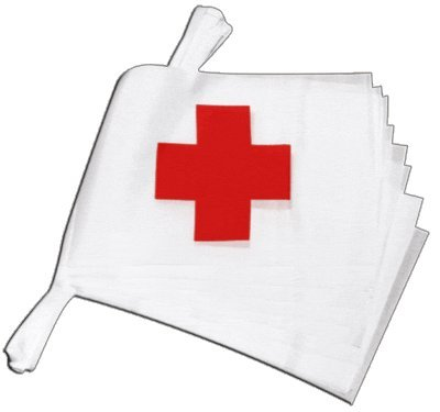 Digni Guirlande 15 Drapeaux Croix Rouge - 5,9 m Sticker Gratuit
