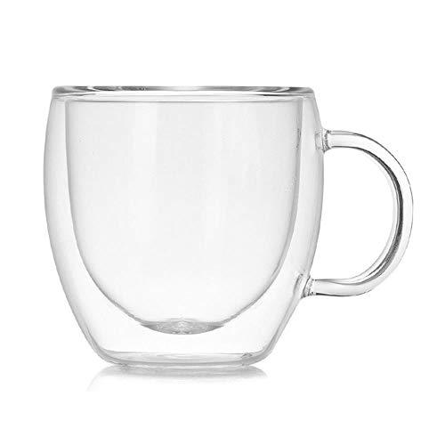 IXL 150ML Doppelschichtige isolierte Kaffeetasse Glasmilch Teetasse Transparente Wasserschale mit Griff, Russische Föderation, 101-200 ml