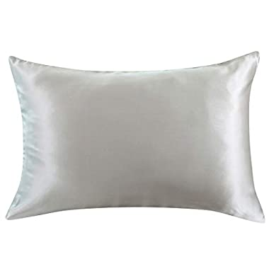 ZIMASILK 100% Mulberry Silk Pillowcase for Hair and Skin,Both Side 19 Momme Silk, 1pc (King 20''x36'', Slive Grey)