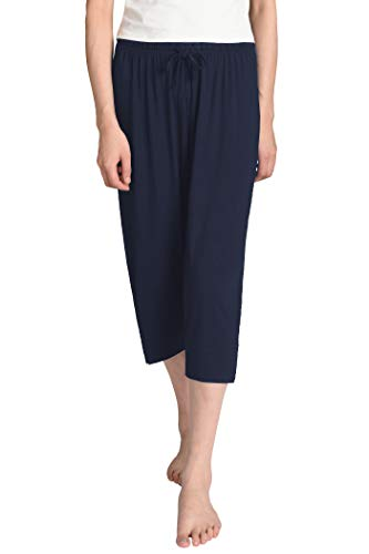 Latuza Women's Knit Capris Sleepwear 2X Navy