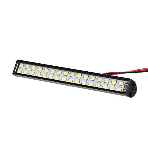 conpoir Barra de Luces LED RC 100mm / 3.9in Lámpara de Techo de Metal Faro de luz 32LEDs Luz para 1/10 Traxxas TRX-4 TRX-6 D90 HSP Redcat RC 4WD Tamiya Axial SCX10 HPI RC Car DIY
