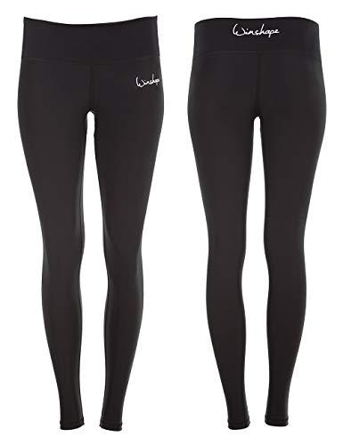 WINSHAPE Damen Functional Power Shape Tights Leggings AEL102 mit Anti-Rutsch-Effekt, Slim Style Fitness Freizeit Sport Yoga Workout, schwarz, M