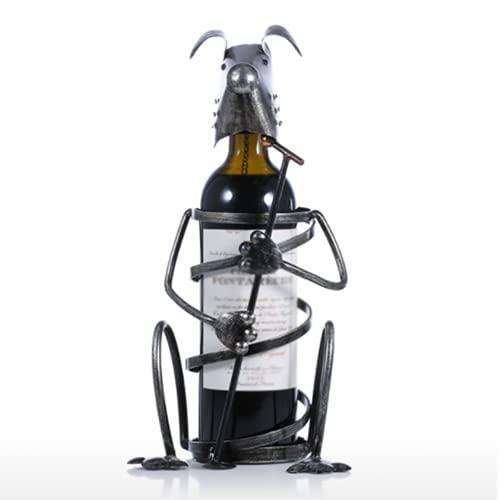 LSZHAO Mesa Estantería de Vino Metal Estante de Exhibición Copa de Vino Soporte Botella Agua para Encimeras Cocina Despensa Frigorífico