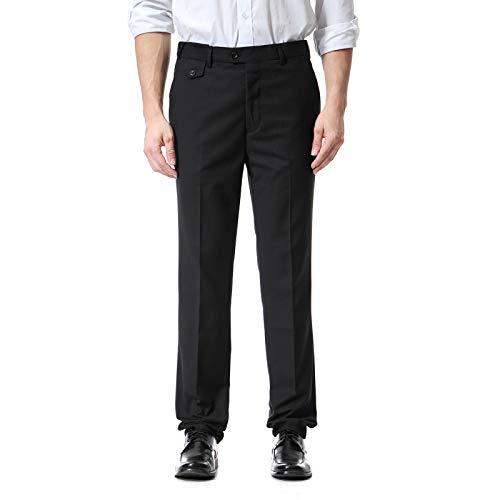 Pantalones Casuales Rectos para Hombres Trabajo de Oficina de Negocios Color sólido Moda Pantalones de Cintura Ajustable de Gran tamaño Todas Las Estaciones 4XL