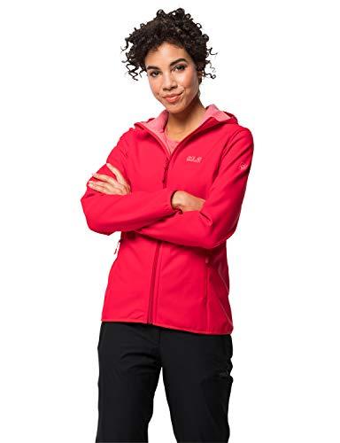 Jack Wolfskin Damen Northern Point Women Softshelljacke, Clear red, XS