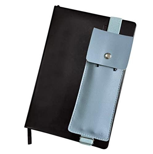 Elastic Band Pen Holder for Planner - Notebook Pen Sleeve - Journal Pencil Case - Pen Holder for Planner - Pen Pouch Sleeve for Notebook - Elastic Pencil Case for Journal Green (Light Blue)