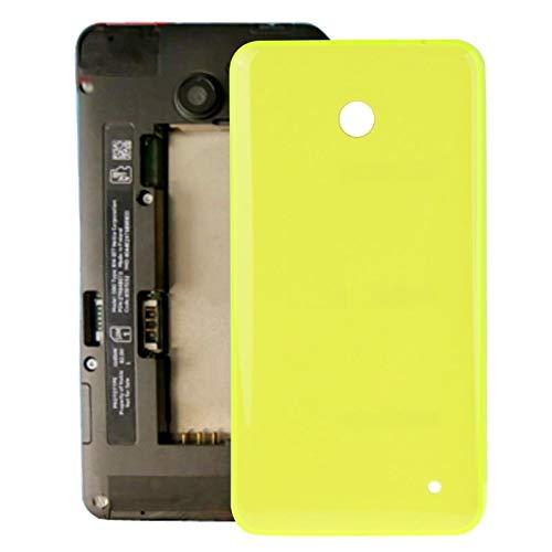 Liluyao Telefon-Ersatzteile Gehäuse Batterie Rückseite + Seitentaste for Nokia Lumia 635 (Orange) (Farbe : Gelb)