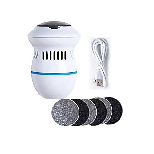 Meeyeet Fully Automatic Electric Pedicure Foot File Callus Remover, Super Strong Vacuum Adsorption Foot Grinder, Portable Professional Feet Care Sander Tools (Type B)
