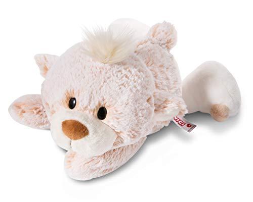 NICI 44477 Kuscheltier Bär 30cm liegend, Plüschtier für Mädchen, Jungen, Baby, für jedes Alter geeignet, BEIGE