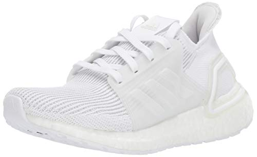 adidas Unisex-Kid's Ultraboost 19 Running Shoe, White/White/Grey, 4.5 M US Big Kid