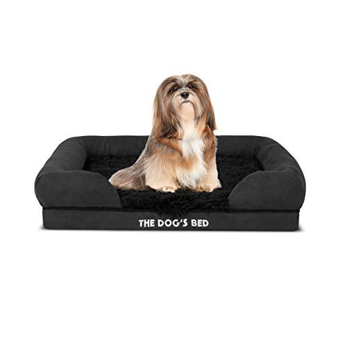 The Dog's Bed Hundebett, orthopädisches Kunstfell, Memory-Schaum, wasserfest, lindert Arthritis und Hüftdysplasie Schmerzen, therapeutisch und unterstützend