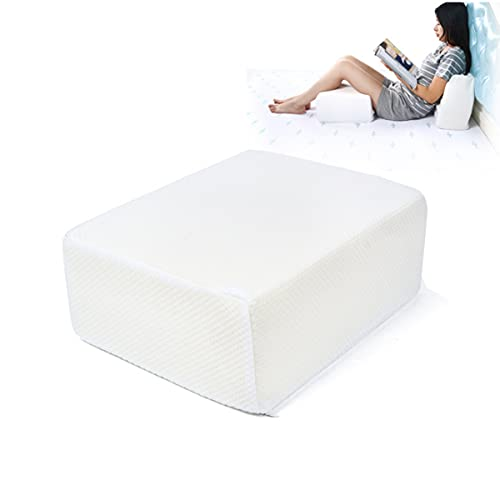 Memory Foam Cube Pillow, Cervical Memory Foam Pillow for Neck Pain Relief, Coach Pillow, Travel Pillow, Pillowcase Removeable and Washable (15x12x6inch)