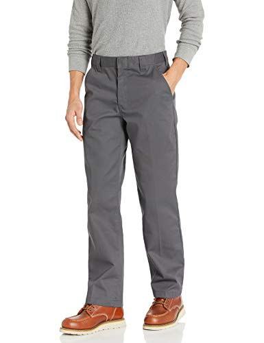 Amazon Essentials Men's Stain & Wrinkle-Resistant Classic Work Pant, Grey, 36W x 28L