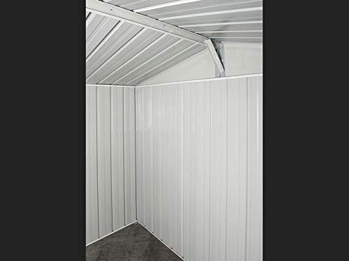 Notek Box in Acciaio Zincato Casetta da Giardino in Lamiera 3.60 x 1.75 m x h2.15 m - 110 kg – 6,30 Metri Quadri (Finitura Legno)