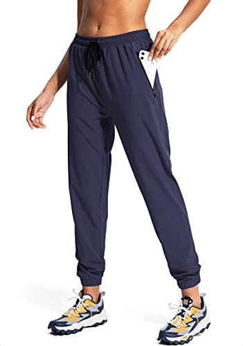 Viodia Women's Hiking Cargo Pants Quick Dry Lightweight Summer Pants for Women Camping UPF50 Pants with ZipperPockets Navy