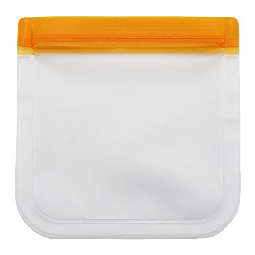 Herbruikbare Silicone Voedsel Storage Bag Set Van 12, Luchtdicht Zip Seal Zakken Voor Koken, Snack, Sandwich, Vriezer, Herbruikbare Groentenfruit Eco Friendly Bags,C,13.4 * 22CM