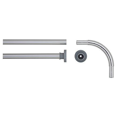 Sealskin Gardinenstange Eckregal für Dusche, Metall, Chrom, 2x 2x 90cm