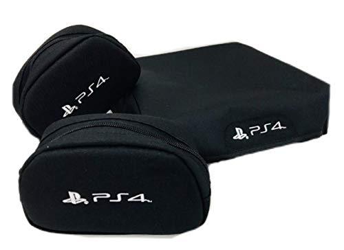 Capa console + 2 cases controle PS4 Slim - Kit 3 Peças