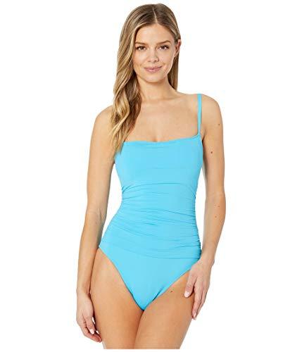 La Blanca Women's Island Goddess Rouched Body Lingerie Mio One Piece Swimsuit, Poolside, 12