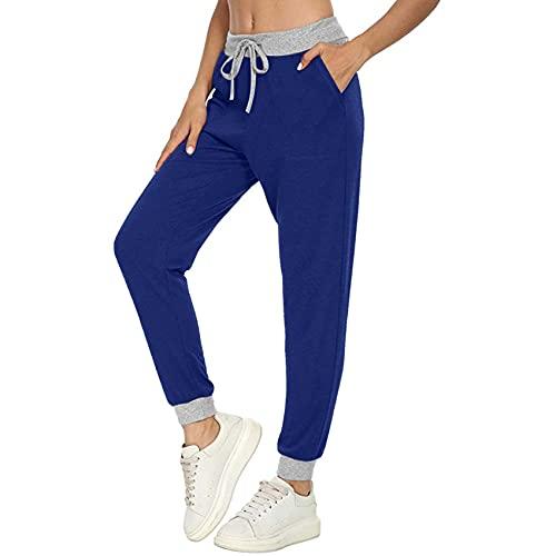 WJANYHN Pantalones con CordóN De Costura De Bolsillo De Color Liso Y Deportivo Informal De Moda para Mujer