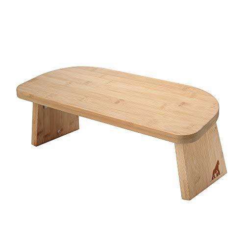 MY FAT GORILLA Banco de meditación plegable de bambú – Taburete de yoga plegable – Banco para meditación profunda