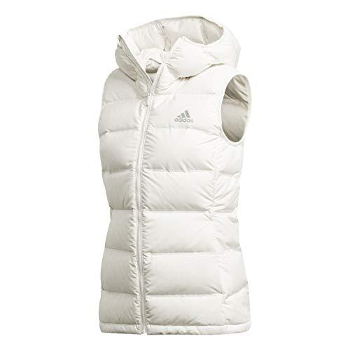adidas Helionic Damen-Daunenweste, Weiß, Größe L