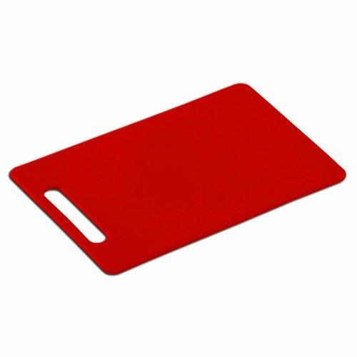 Kesper 30483 - Tagliere in Plastica, 34 X 24 X 0,6 Cm, Colore: Rosso