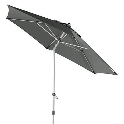 Doppler EXPERT Auto Tilt 320 – Knickbarer Sonnenschirm für Balkon oder Terrasse – Regenabweisend – ca. 320 cm – Anthrazit