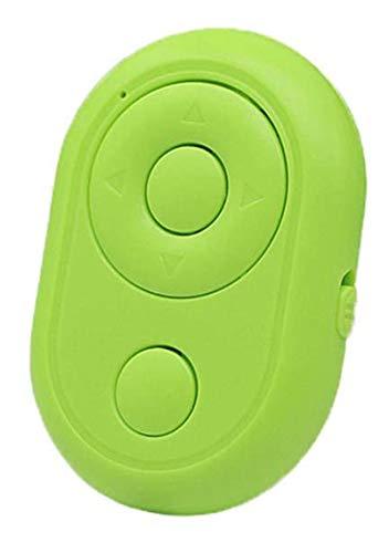 HAVAJ Volteador de página Bluetooth y control remoto de cámara, se puede utilizar para desplazar vídeos para Tiktok y controlar para reproducir/pausar el video, verde