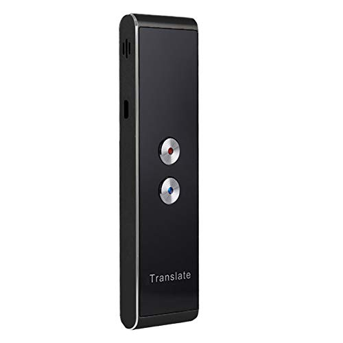 Translator 2-Way Instant Real-time Translate 30+ Languages Voice 2.4G Smart Pocket Speech/Text Intelligent Interpreter for Travel Learning Business Meet(Schwarz)
