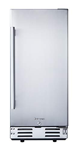 Kalamera 15 inch Stainless Steel Beverage Refrigerator, Under Counter Beverage Cooler for 104 Cans with 32-41℉ Temperature Range - Soda and Beer Refrigerator with Soild Stainless Door