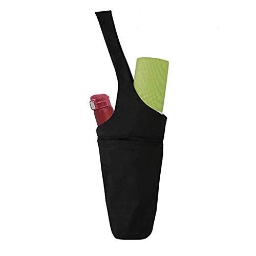 unknow Ristiege Esterillas de ejercicio multifuncionales con bolsillos de almacenamiento para yoga, mochila para mujeres y hombres, color negro