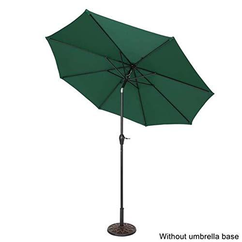 CRMY Sombrilla De Jardín De 2,7 M, Parasol De Patio Inclinable con Manivela, Protección UV Resistente Al Agua para Exteriores, Jardín Y Patio, Ancho De Poste 38 Mm, Altura 2,43 M, Sin Base