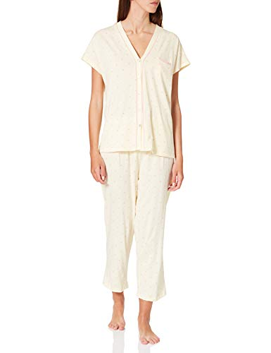 Women' Secret Short Sleeves Masculine Pyjama Pijama, Amarillo, M para Mujer