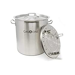 commercial GasOne ST-32 8 gallon stainless steel gas 1 stock, lid / lid and steam stand, tamale, … stock pot steamer
