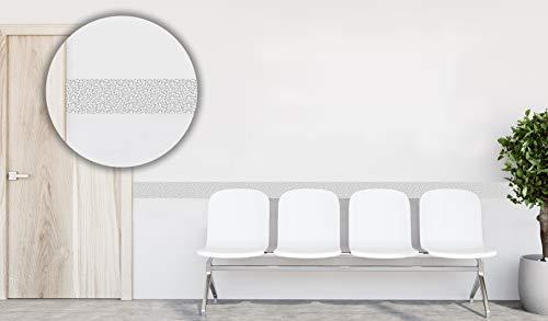 Oedim Pack 20 Cenefas Imitación Mosaico Gris | 100 x 10 cm | Realizado en Metacrilato 4 mm | Material Resistente y Económico | Protector para Paredes |