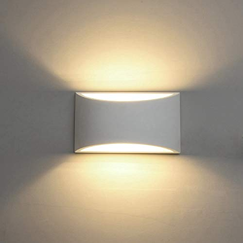 Modern LED Wall Sconce Lighting Fixture Lamps 7W Warm White 2700K Up and Down Indoor Plaster Wall Lamps for Living Room Bedroom Hallway Home Room Decor(with G9 Bulbs NOT Plug)