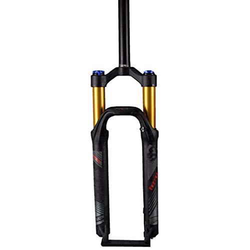 Zatnec Mountain Bike Suspension Fork 1-1/8' 28.6mm Lightweight Magnesium Alloy MTB Suspension Lock Shoulder Travel:100mm (Color : Black, Size : 27.5inch)