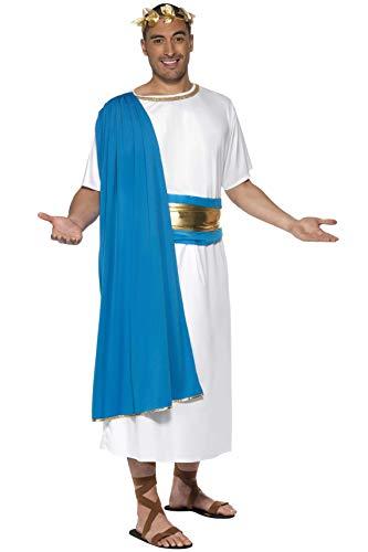 Smiffys Costume de sénateur romain, robe, ceinture et coiffe