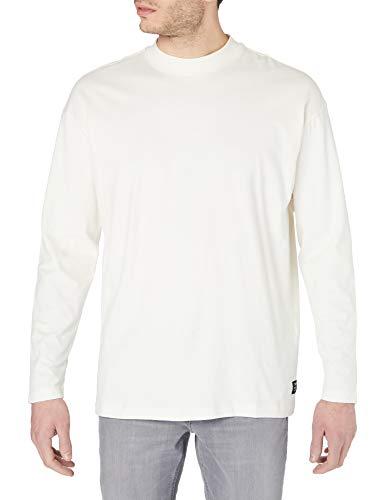 TOM TAILOR Denim Stehkragen Camiseta, 12906-Lana de Color Blanco, XXL para Hombre