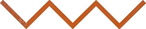 Duraline Zigzag Mensola, Legno, Arancione, 60 cm