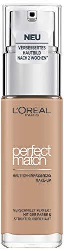 L'Oréal Paris Perfect Match Make-up 5.R/5.C Rose Sand, flüssiges Make-up, für einen natürlichen Teint, mit Hyaluron und Aloe Vera