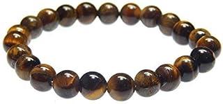 Myhealingworld Gemstone Beaded Bracelet 8mm Healing Stone Band Balancing Stretch Wristband for Men Women