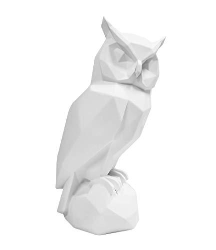 Present Time - Statue Chouette Blanche Origami