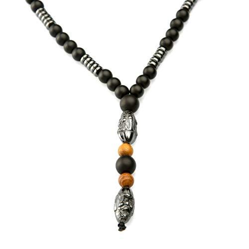 Collana da uomo con croce HEMATITA, rosario Vaticano per andare in palestra sulla spiaggia, regalo perfetto per il marito Fashion 2020