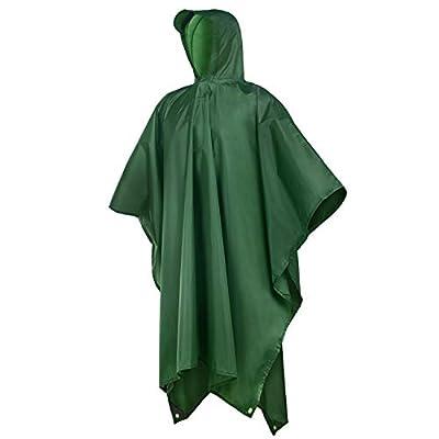 Rain Poncho,Rain Ponchos for Adults Men Women Hooded,Lightweight Reusable