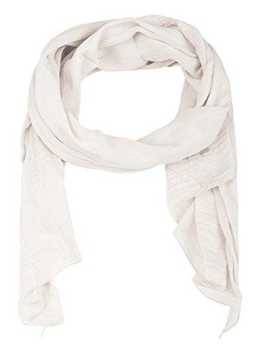 Zwillingsherz Seiden-Tuch für Damen Mädchen Uni Elegantes Accessoire/Baumwolle/Seiden-Schal/Halstuch/Schulter-Tuch oder Umschlagstuch einsetzbar - weiß